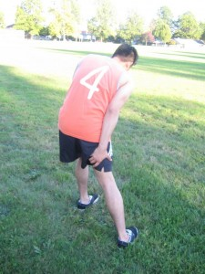 Hamstring muscle contusion